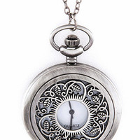 Filigree Pocket Watch and Necklace