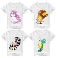 DMDM PIG Cotton Kids T-Shirt Children Summer Short Sleeve T-Shirts For Boys Girls Clothes Baby Boy T Shirt Toddler Tops