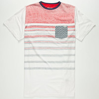 Lost Memorial Mens Pocket Tee White/Red  In Sizes