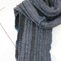 Extra long men's scarf Grey scarf Grey Mohair Coal Men Scarf handmade scarf Winter Scarf Unisex Unique Christmas Gifts Unique products