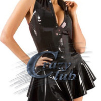 Crazy club_Latex Erotic Lingerie Girls Latex Sexy Women Latex miniskirt style cheerleading Customized Dress Fetish Fast Delivery