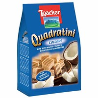 Loacker Quadratini, Coconut, 8.8 oz.
