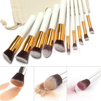 Makeup brushes 10 pcs Superior Professional Soft Cosmetics make up brush set Woman's pincel kabuki kit makeup brushes maquiagem