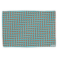 Swimming Fish Optical Illusion Standard Size Polyester Pillow Case All Over Print