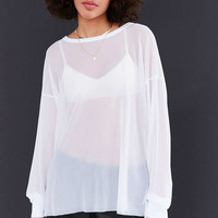 Truly Madly Deeply High/Low Oversized Mesh Tee - Urban Outfitters