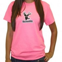 Shortsleeve - Safety Pink with White Logo: Hunting Apparel | Hunting Clothes | Shirts | Stickers | Decals