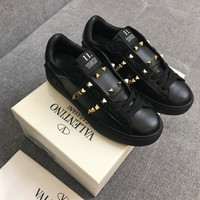 Valentino Leather Rockstud Untitled Sneaker