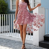 Khloe Ann Asymmetrical Floral Dress