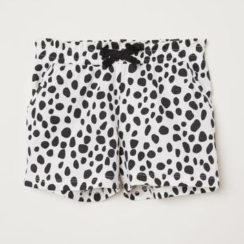 Jersey Shorts - White/black dotted - | H&M US