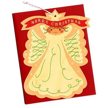 Angel Wood Ornament Holiday Card [Night Owl Paper Goods]