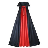 """54"""" Fully Lined Deluxe Vampire Cape II ~ Halloween Costume Accessories (STC11509-L)"""