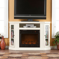 Southern Enterprises FE9314 Claremont Convertible Media Ivory Electric Fireplace