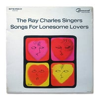 """George Giusti record album design, 1964. """"Ray Charles Singers: Songs for Lonesome Lovers"""" LP"""