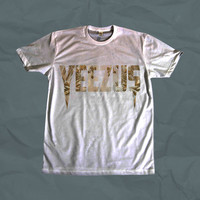 Yeezus Kanye White Shirt- One Sided *Ships Quickly* Dye Sublimation Unisex Shirt