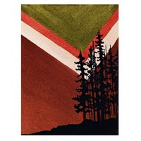 Art for Men, Geometric, MidCentury, Painting of Trees, Watercolor Landscape, Prints, Landscape, Geometric Wall Art, Woodland Painting