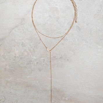 Star Drop Layered Necklace