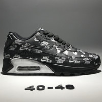 Nike AIR MAX 90 retro fashion running shoes F-CQ-YDX black