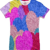Fragmented Hearts Women's T-Shirts by One Artsy Momma | Nuvango