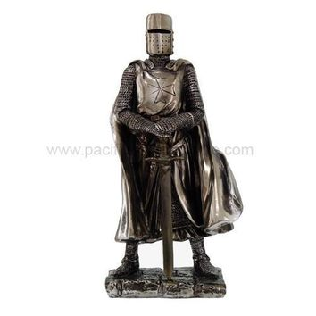 Medieval Crusader Knight With Sword