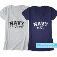 Custom Navy tshirt, Navy wife shirt, Navy girlfriend shirt, Navy mom shirt, Navy sister shirt, Navy aunt, Navy clothing, us navy shirt