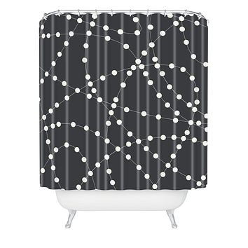 Holli Zollinger Dotted Line Shower Curtain
