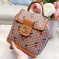 GUCCI & Disney New fashion more letter mouse print handbag book bag backpack bag