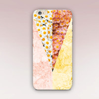 Floral Marble Phone Case- iPhone 6 Case - iPhone 5 Case - iPhone 4 Case - Samsung S4 Case - iPhone 5C - Tough Case - Matte Case - Samsung