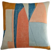 District Apricot Throw Pillow