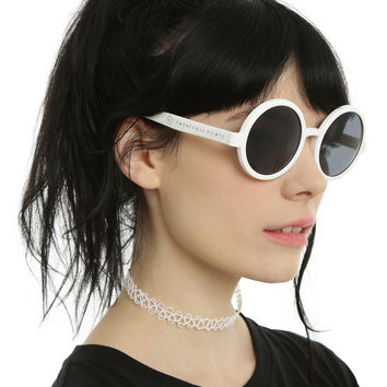 Twenty One Pilots White Round Sunglasses