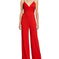 Jay Godfrey V-Neck Sleeveless Wrap Waist Jumpsuit