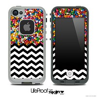 Mixed Tiny Gumballs and Chevron Pattern Skin for the iPhone 5 or 4/4s LifeProof Case