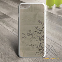 Flowers Wooden Custom case for iPhone, iPod and iPad