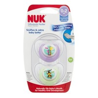 NUK Advanced Orthodontic Newborn Pacifiers, 0-2 Months, Girl Colors - 4 Counts - Walmart.com