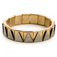 Gold Triangle Pattern Bracelet