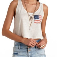 AMERICANA POCKET GRAPHIC SWING CROP TOP