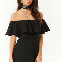 Flounce Off-the-Shoulder Mini Dress