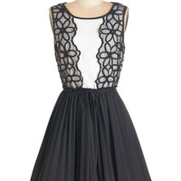 Mid-length Sleeveless Fit & Flare Spin onto the Scene Dress