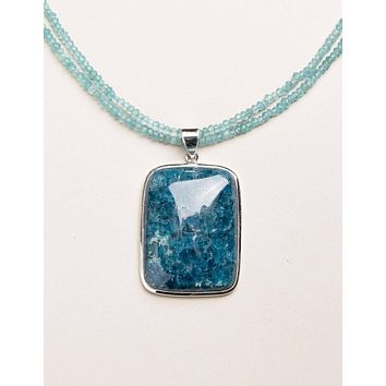 Brazilian Blue Apatite Necklace - One of a Kind
