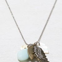 AEO Women's Long Leaf Cluster Necklace (Silver)