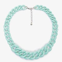 Lacquered Curb Link Chain Necklace