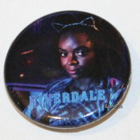"""Licensed cool CW RIVERDALE High Josie Pussycats Ears 1 1/4"""" Button Pin Back Pinback Licensed"""