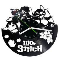 Lilo and Stitch vinyl clock Disney clock