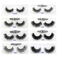 YOKPN Quality Mink False Eyelashes Messy Curl Thick Soft Fake Eyelashes Fashion Smoke Banquet Makeup Mink Eye Lashes  A11