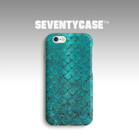 Mermaid Fish Texture Scale Green Animal Fantasy Full Wrap Case Cover for iPhone 4/4S 5/5S 5C 6/6S Plus Samsung Galaxy S4 S5 Note4 5 SC592