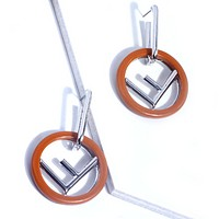 Fendi Fashion New Letter Circle High Quality Women Long Earring Khaki
