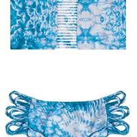 Mikoh 2015 Sunset Bandeau Bikini in Whitewater Oceanic