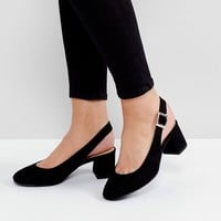 New Look Wide Fit Sling Back Block Heeled Shoe at asos.com