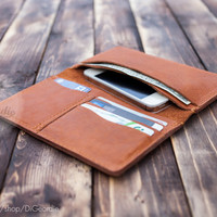 iPhone 6 clutch wallet mens leather wallet billfold wallet brown genuine leather wallet credit card wallet card holder wallet travel wallet