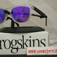 OAKLEY SPECIAL EDITION HERITAGE COLLECTION FROGSKINS MATTE CLEAR VIOLET IRIDIUM
