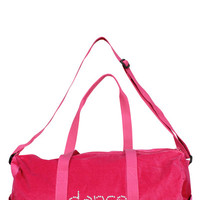 Girl Junk Pink Velvet Dance Duffel Bag | Mod Angel